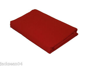 2-X-HOUSEWIFE-COTTON-BLEND-RED-PILLOWCASES-76-X-68-PICK-20-x-30-51-x-76cm