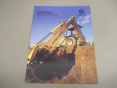 New Holland Ford Sales Brochure 455d 555d 575d 655d 675d Backhoe Loaders
