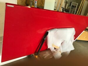 Red caesarstone countertop