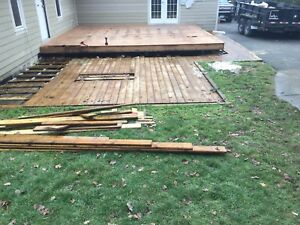 Treated deck boards