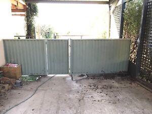 Garden Colourbond fence and gate