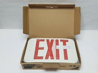 Lithonia Lighting Exr Led El M6 Exit Sign White Red Emergency 210lc6 New In Box