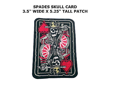 Ace Of Spades Embroidered Patch Skull Death Grim Reaper Iron On Vietnam War New