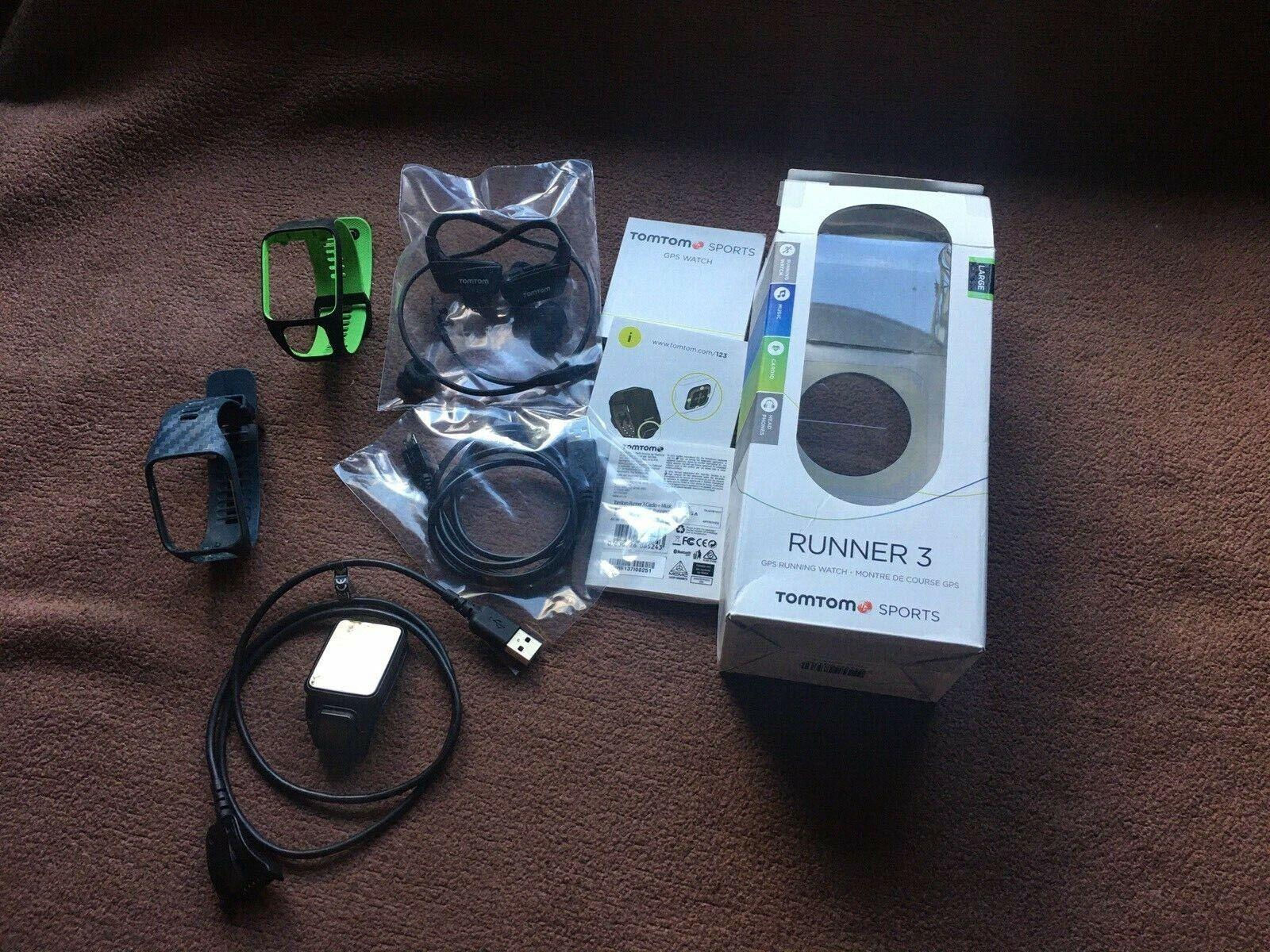 TomTom Runner 3 Cardio, Musik, Herz, Puls, GPS, Sportuhr viele Funktionen 269€