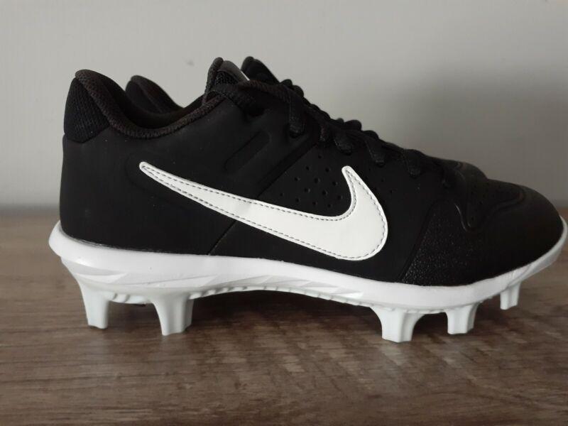 New (Kids Youth Size 3.5Y) Nike Alpha Huarache Black Baseball Cleats AO7583-001