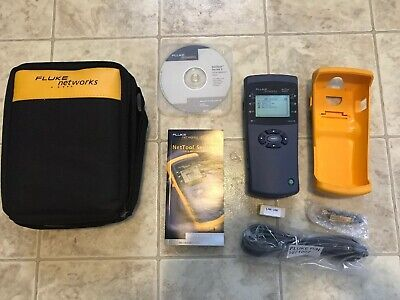 Fluke Networks Nettool Series Ii Inline Network Tester Case And Accessories