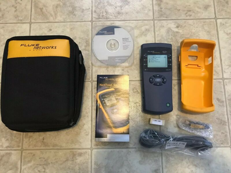 Fluke Networks NetTool Series II Inline Network Tester, Case, and Accessories