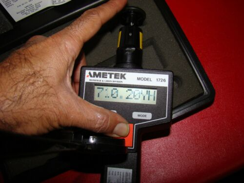 Ametek 1726 Dual Function Digital Tachometer RPM Contact Non-Contact with CASE