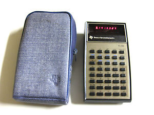 Vintage TI-30 Electronic Slide-Rule Calculator w/ LED Display & Case Texas Inst.