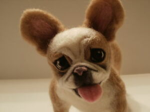 Custom-Needle-Felted-French-Bulldog-or-Any-Dog-Your-Choice-By-Artist-Lacharmour