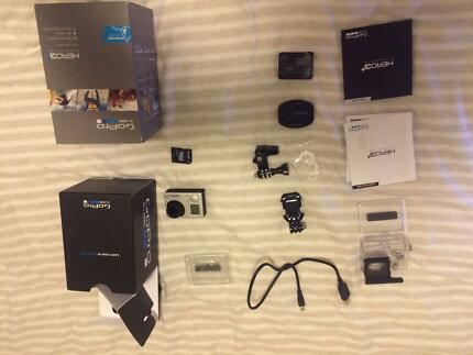 GOPRO HERO 3+ SILVER - NANO SIMCARD 16GB - EXTRA ACCESSORIES Holland Park Brisbane South West Preview