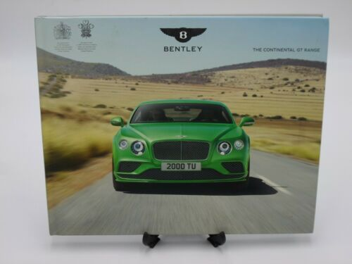 2016 BENTLEY Continental GT Range Dealer Book Hardcover Printed In England