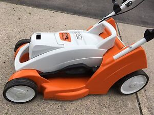 Stihl Lithium Ion Battery Lawn Mower and Grass Cutter