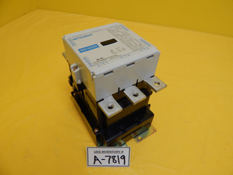 Mitsubishi SD-N220 Magnetic Contactor 220 Amp Used Working