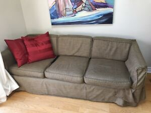 Sofa with Potato Skins slip cover