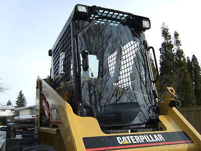 Cat 12 Lexan Saftey Door Cab.226 248 252 257 267 277 Cat Skid Steer Cab Glass