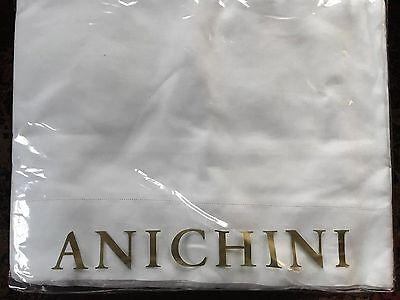 ANICHINI Queen White Linen Sheet Set