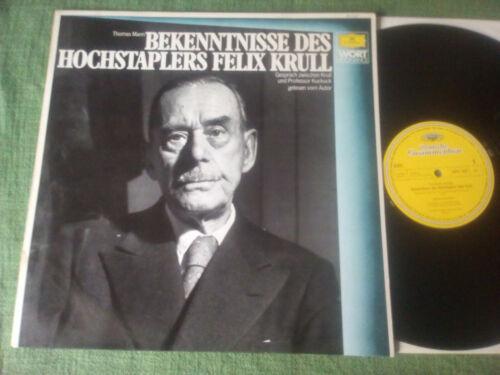 LP: THOMAS MANN - Bekenntnisse des Hochstaplers Felix Krull - DGG - 1957
