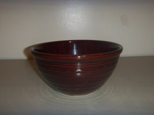 "VINTAGE MARCREST OVENPROOF STONEWARE  BROWN DAISY DOT 9""  MIXING BOWL"