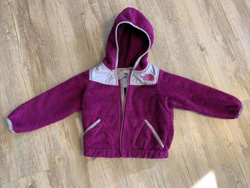 baby girls north face jacket purple 12-18 months fleece winter