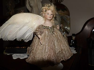 small vintage porcelain elven fairy/angel doll