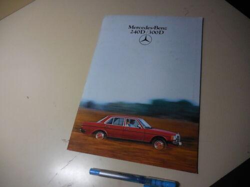 Mercedes-Benz 240D 300D Japanese Brochure W123  1981?