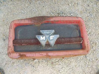 Massey Ferguson 175 Tractor Front Hood Grill Top Nose Cone Bonnet Screen Emblem