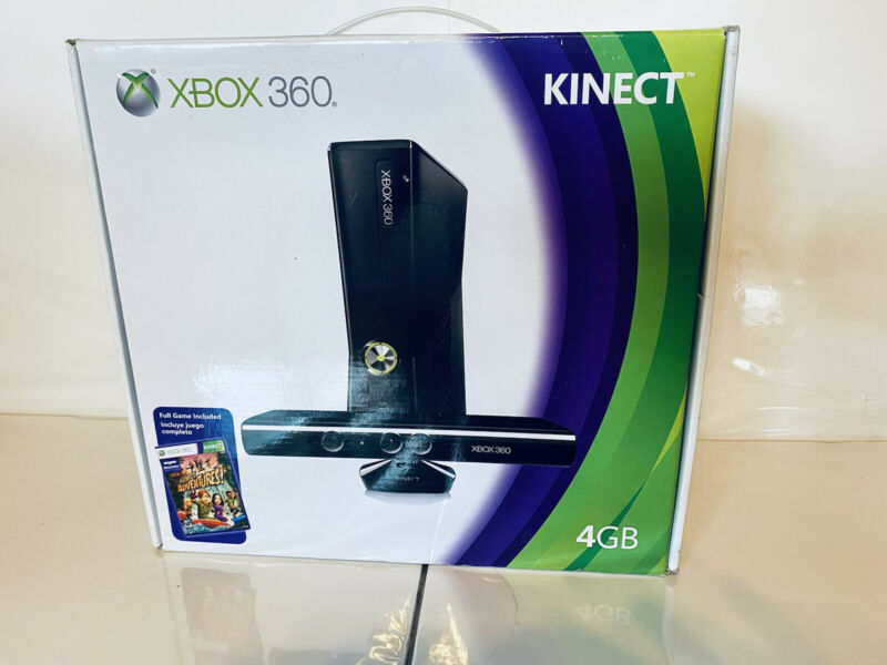 New%2C+Factory+Sealed+Xbox+360+Kinect+4GB+Console+with+Kinect+%26+Adventure+Game