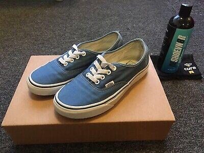 Vans Authentic Light Blue Skateboarding Shoes UK4.5 / 37