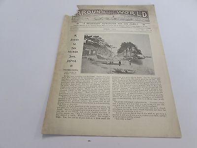 ANTIQUE - AROUND THE WORLD - MISSIONARY NEWSPAPER FOR THE FAMILY - APRIL 1902