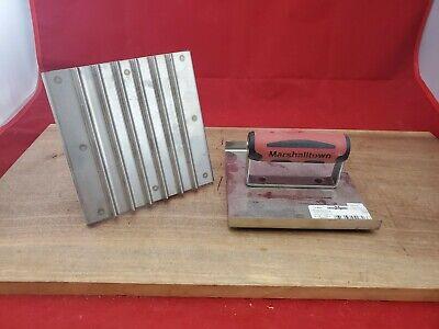 Pair Marshalltown 6x6 Groover Grooving Tool Stainless Steel Pair