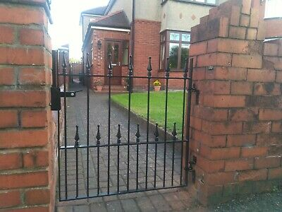Single Wrought Iron Gate - Flat top with arrow furniture garden gate top quality