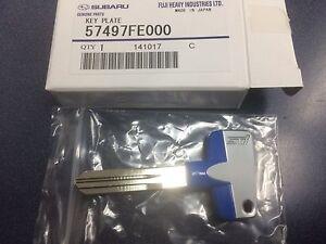 Genuine OEM Subaru STI Logo Titanium Key Blank Forester Impreza Legacy WRX BAJA