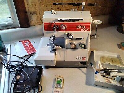 ELNA LOCK Pro 4 Overlocker Serger Sewing Machine w/accessories