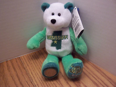 Mississippi Bear Limited Edition State Bear With Quarter & With Tags