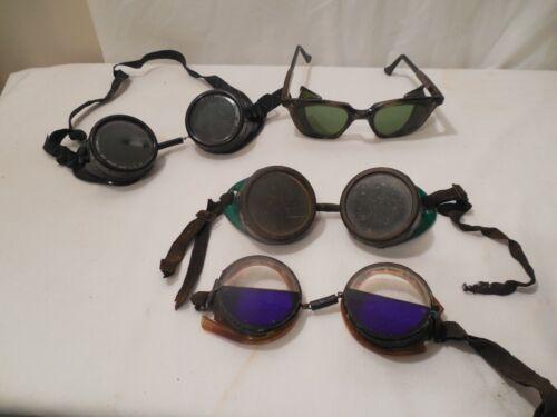 4 Pair Vintage Welding EyeGlasses Safety Goggles 1) Side Wings Steampunk