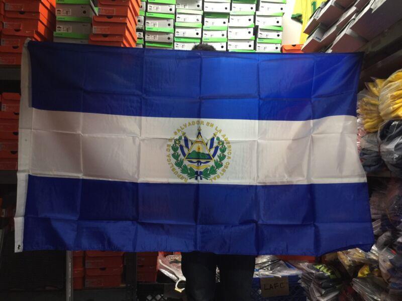 El Salvador Flag Big Indoor Outdoor Salvadorian Country Banner 1 Piece Only