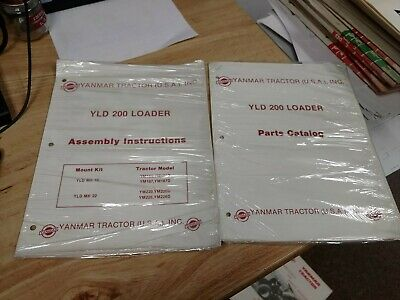 Yanmar Diesel Tractor Yld 200 Loader Parts Catalog Assembly Instructions