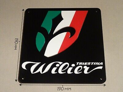 Wilier Bikes, Cycling Sign, Acrylic - Black, White, Red & Green: 190mmX190mm.