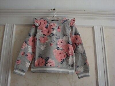 NWT Janie And Jack Girls  FLORAL RUFFLE PULLOVER Top  6 - Floral Girls Pullover