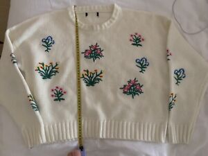 Cream jumper with flowers Mount Barker Mount Barker Area Preview