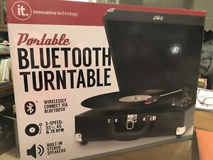 Bluetooth Turntable and JT record