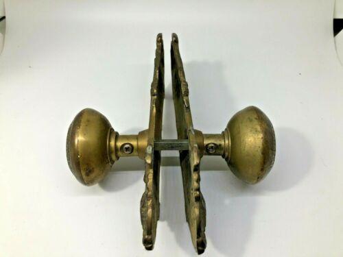 Vintage Brass Door Knob & Plate