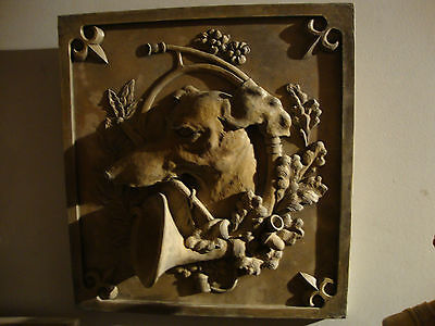 Greyhound Hunting Dog Wall Plaque Animal Art Home Decor Stone Tile Sculpture - CA$169.00