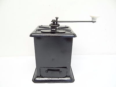 Antique Old Black Table Top Metal Coffee Grinder Restored Mill Used , used for sale  Shipping to Canada