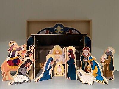 Melissa & Doug Wooden Children's Christmas Nativity Scene Set Toy Complete