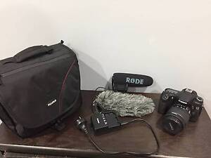 Canon 70D, Rode Video Mic Pro And Camera Bag Frenchs Forest Warringah Area Preview
