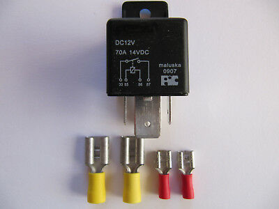Hochbelastbares Relais für Ihre Solaranlage 12V,70A+4 Stecker!