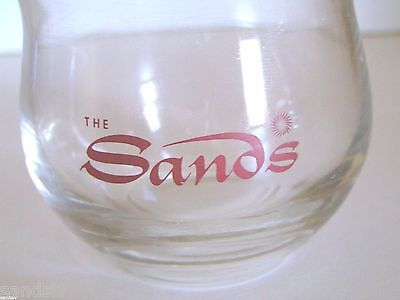 Sands Hotel Las Vegas Rare Cocktail Glass Vintage 1960's - 70's