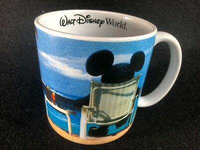 Walt Disney World Over Sized Mickey Mouse Coffee Cup Mug Beach Ocean